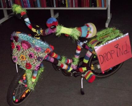 Strikkekunst cykel